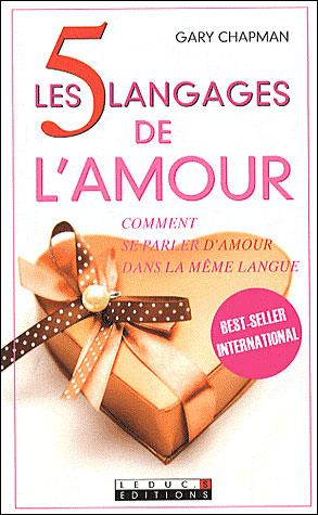 livre de développement personnel : les 5 langages de l'amour